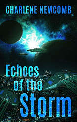 Echoes of the Storm book cover LGBTQ SFF indie reading challenge october
