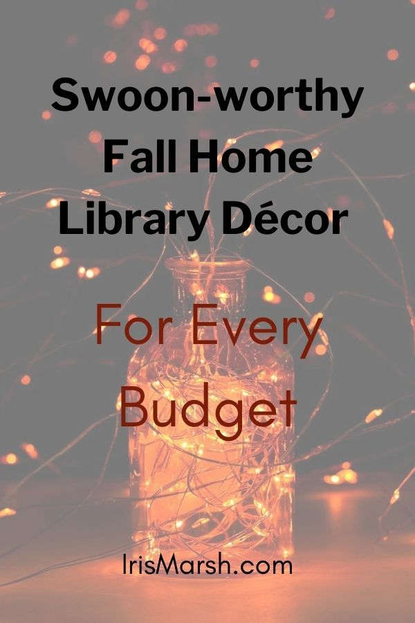 fall home library decor list