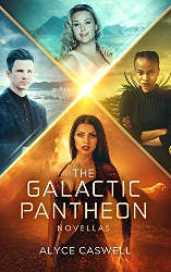 LGBTQ indie reading challenge the galactic pantheon book cover