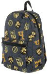 backpack with harry potter hufflepuff emblem on it