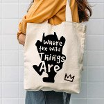 holiday gift guide for readers who love fantasy where the wild things are tote bag