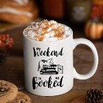 bookish holiday gift guide cat mug