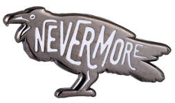 holiday gift guide for readers who love fantasy nevermore raven pin
