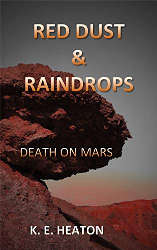 short book review red dust and raindrops death on mars, book cover