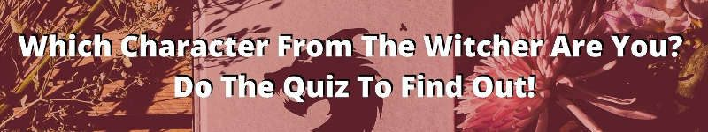 witcher character quiz banner