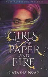 ya fantasy romance girls of paper and fire book cover